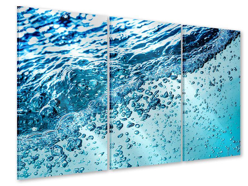 Acrylglasbild 3-teilig Wasser in Bewegung