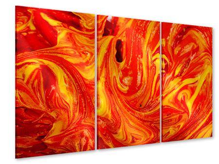 Acrylglasbild 3-teilig Wandgemälde