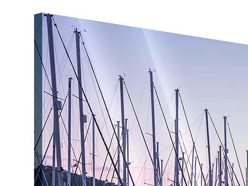 Acrylglasbild 3-teilig Yachthafen