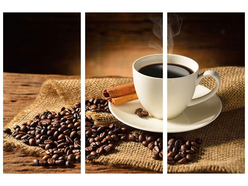 Acrylglasbild 3-teilig Kaffeepause