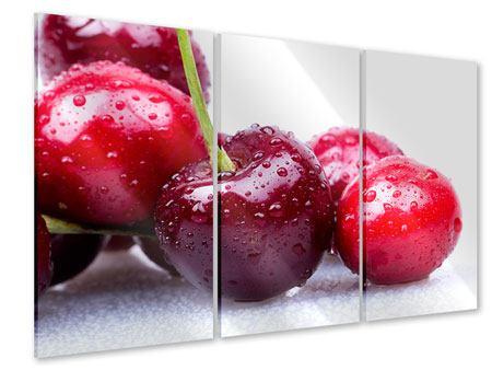 Acrylglasbild 3-teilig Kirschen