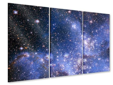 Acrylglasbild 3-teilig Sternenhimmel