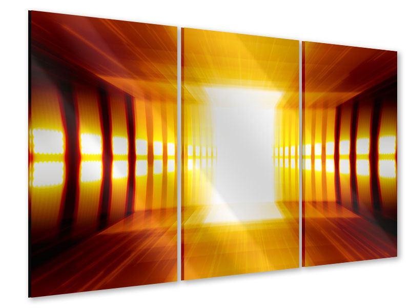 Acrylglasbild 3-teilig Abstrakter Goldener Raum
