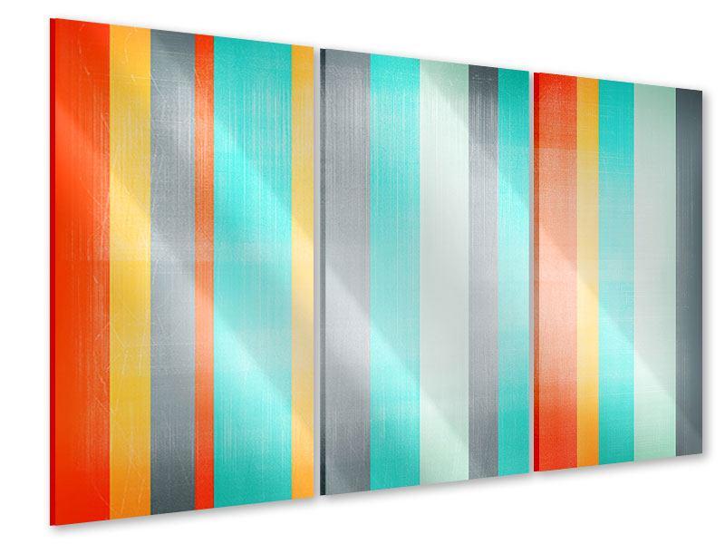 Acrylglasbild 3-teilig Grunge Streifen