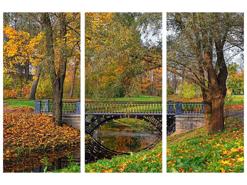 Acrylglasbild 3-teilig Romantischer Park