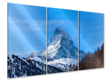 Acrylglasbild 3-teilig Das majestätische Matterhorn