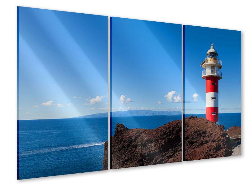 Acrylglasbild 3-teilig Leuchtturm in Punta Teno