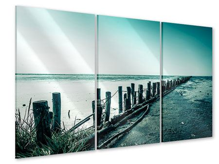 Acrylglasbild 3-teilig Das Wattenmeer