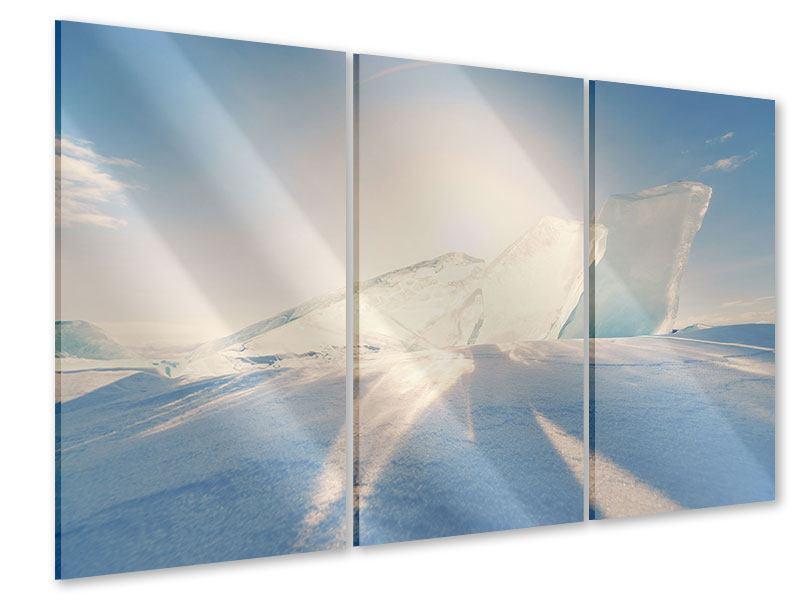 Acrylglasbild 3-teilig Eislandschaft