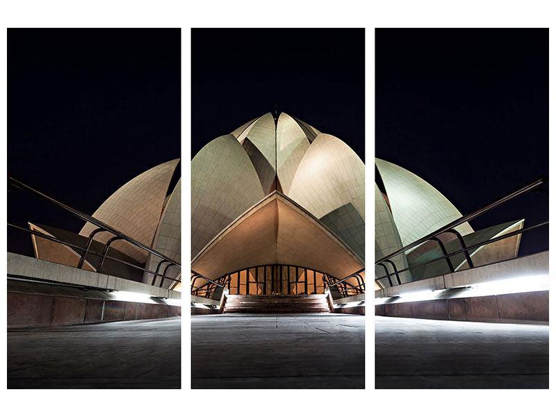 Acrylglasbild 3-teilig Der Lotus-Tempel