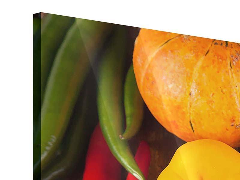 Acrylglasbild 3-teilig Gemüsefrische