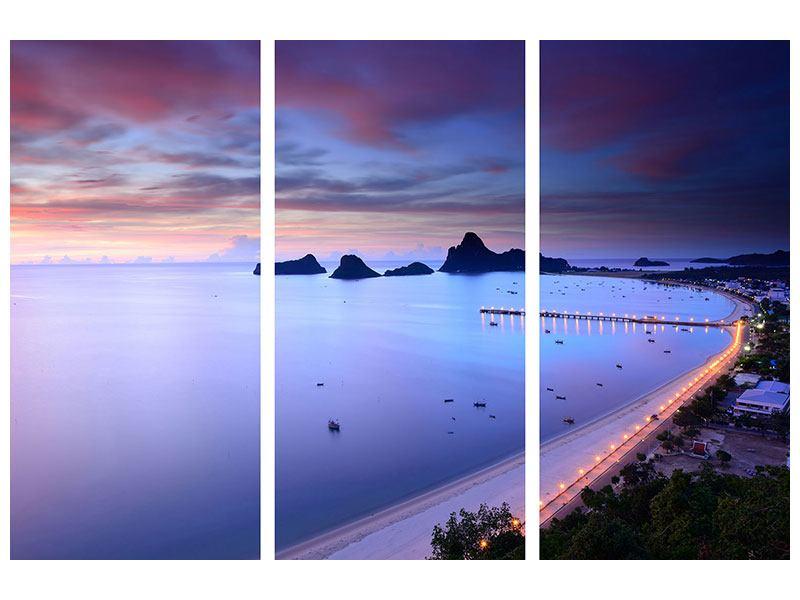 Acrylglasbild 3-teilig Ano Manao Bucht