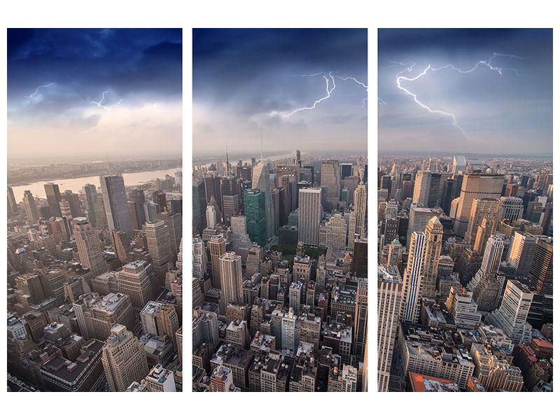 Acrylglasbild 3-teilig Manhattan