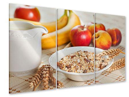 Acrylglasbild 3-teilig Frühstück