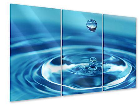 Acrylglasbild 3-teilig Der Wassertropfen