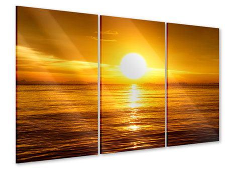 Acrylglasbild 3-teilig Traumhafter Sonnenuntergang