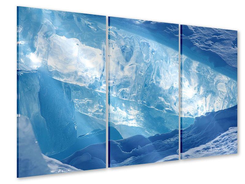 Acrylglasbild 3-teilig Baikalsee-Eis
