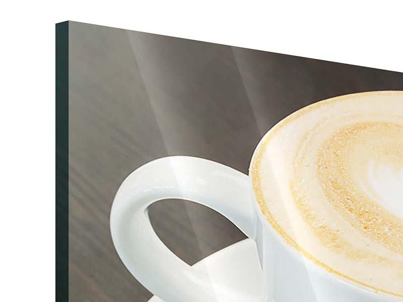Acrylglasbild 3-teilig Lieblingskaffee