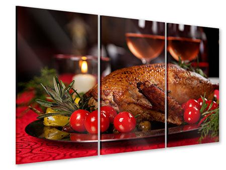 Acrylglasbild 3-teilig Köstliches Geflügel