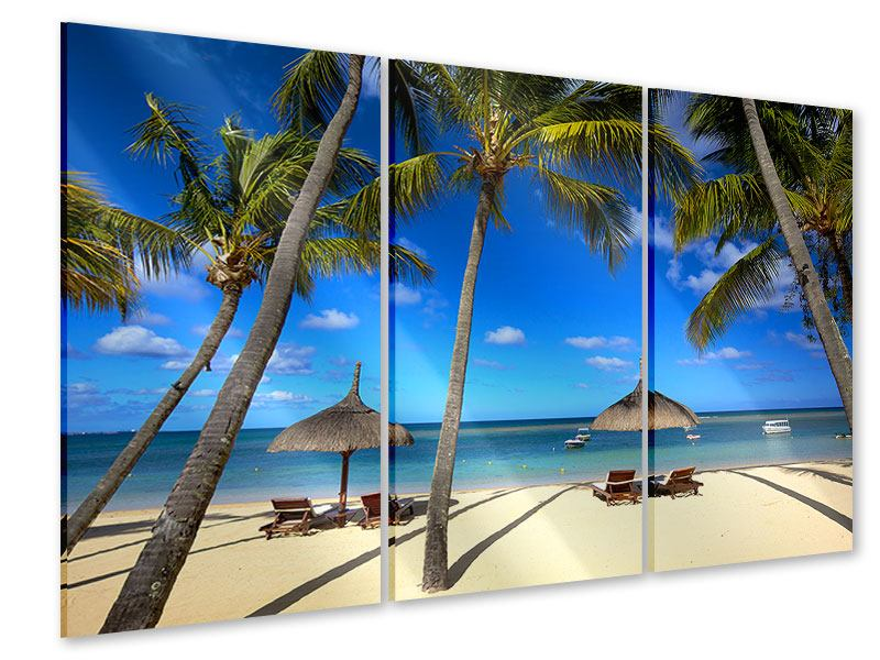 Acrylglasbild 3-teilig Mauritius