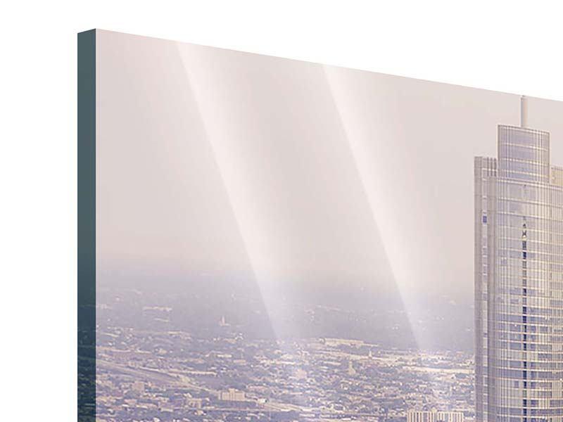 Acrylglasbild 3-teilig Skyline Chicago in Sepia