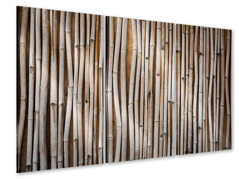 Acrylglasbild 3-teilig Getrocknete Bambusrohre