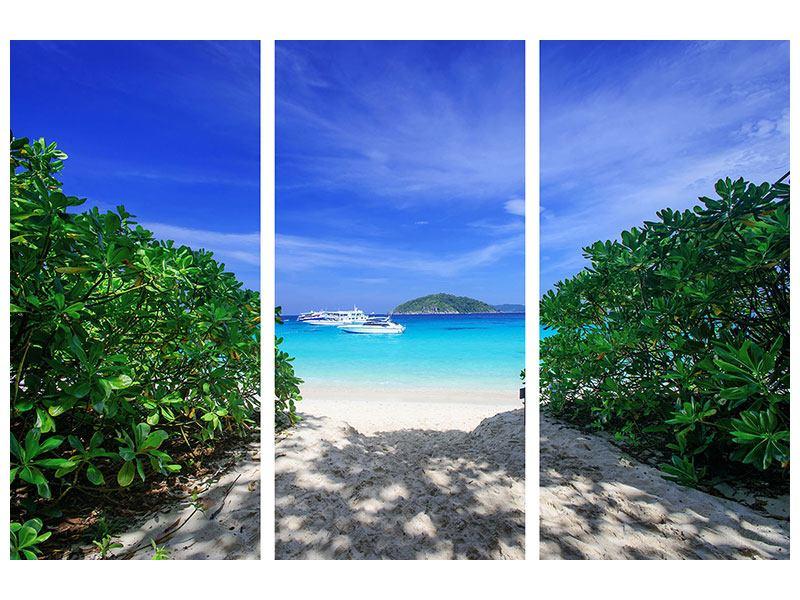 Acrylglasbild 3-teilig Similan-Inseln