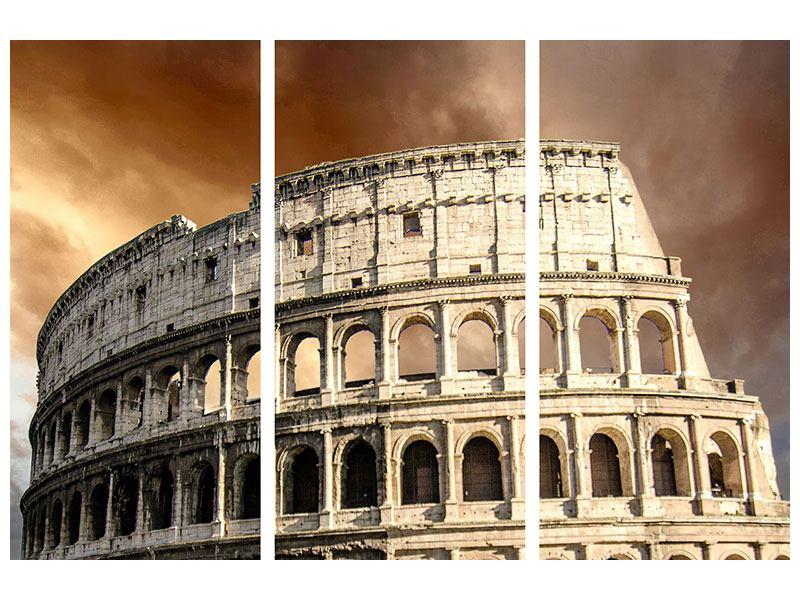 Acrylglasbild 3-teilig Kolosseum Rom