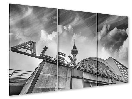 Acrylglasbild 3-teilig Alexanderplatz