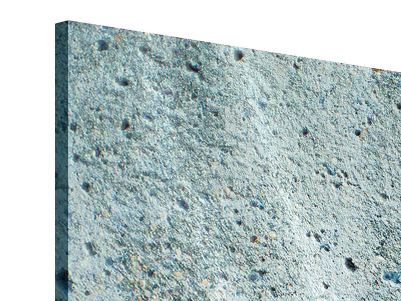 Acrylglasbild 3-teilig Beton in Grau