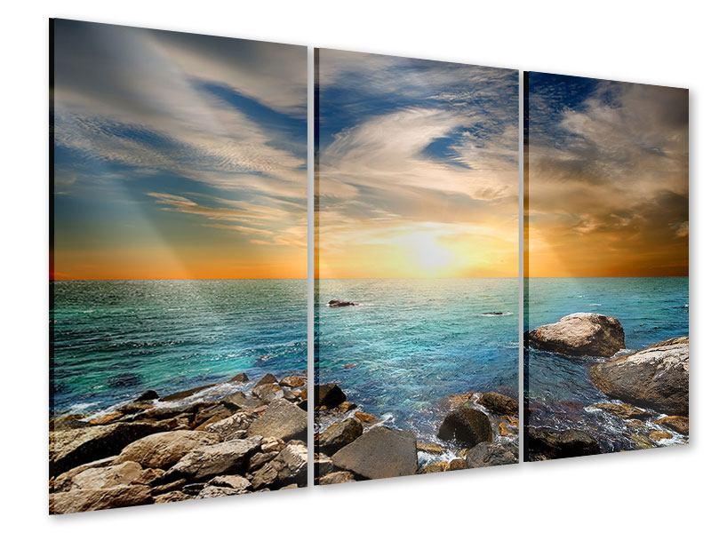 Acrylglasbild 3-teilig Meerwasser