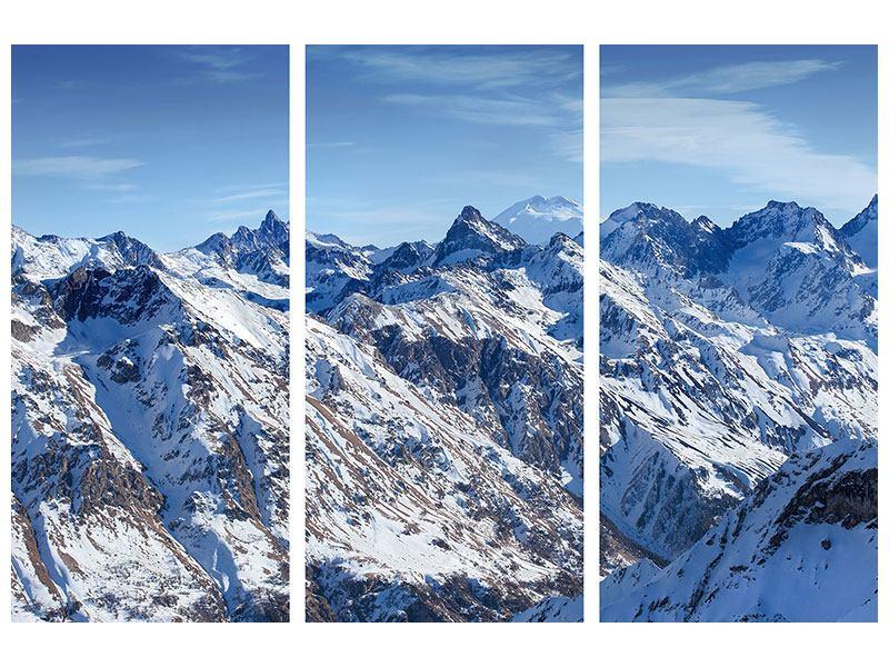 Acrylglasbild 3-teilig Gipfelspitzen