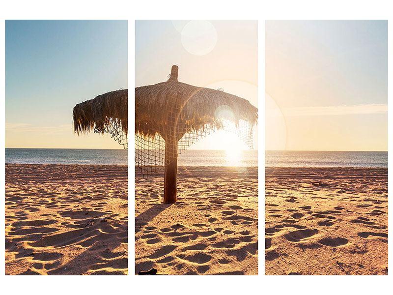 Acrylglasbild 3-teilig Der Sonnenschirm