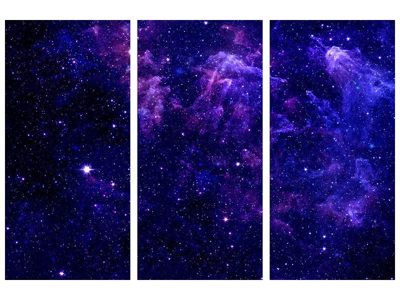 Acrylglasbild 3-teilig Ein Himmel voll Sterne