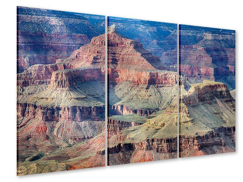 Acrylglasbild 3-teilig Gran Canyon