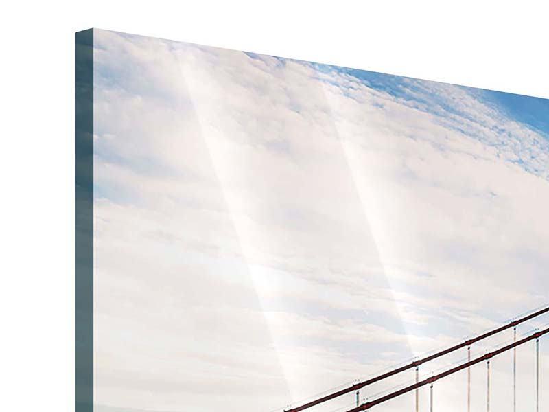 Acrylglasbild 3-teilig Golden Gate Bridge