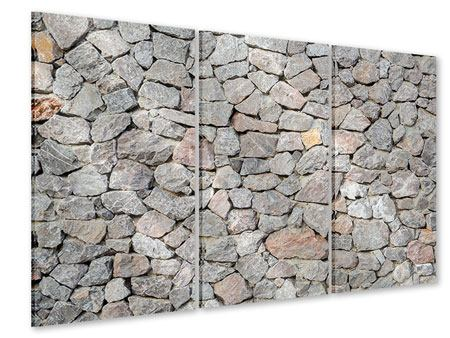 Acrylglasbild 3-teilig Grunge-Stil Mauer