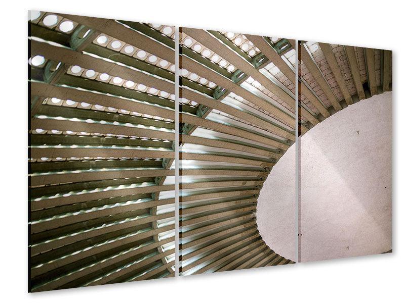 Acrylglasbild 3-teilig Abstraktes Rad