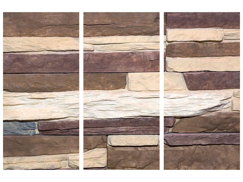 Acrylglasbild 3-teilig Designer-Mauer