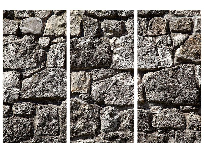 Acrylglasbild 3-teilig Grosses Mauerwerk