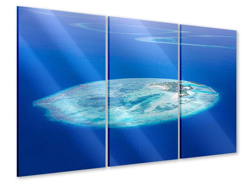 Acrylglasbild 3-teilig Reif für die Trauminsel
