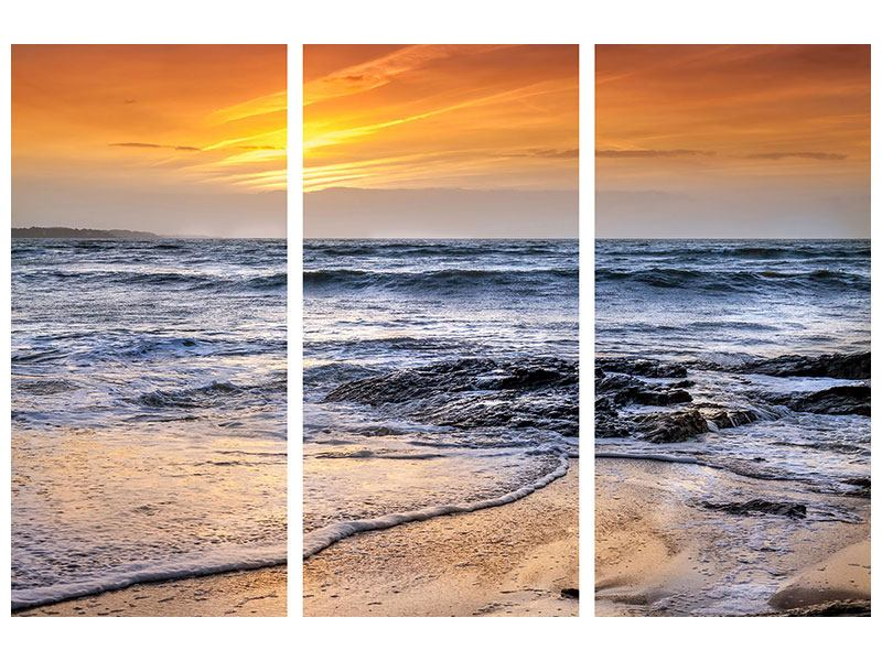 Acrylglasbild 3-teilig Das Meer