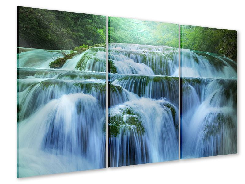 Acrylglasbild 3-teilig Gigantischer Wasserfall