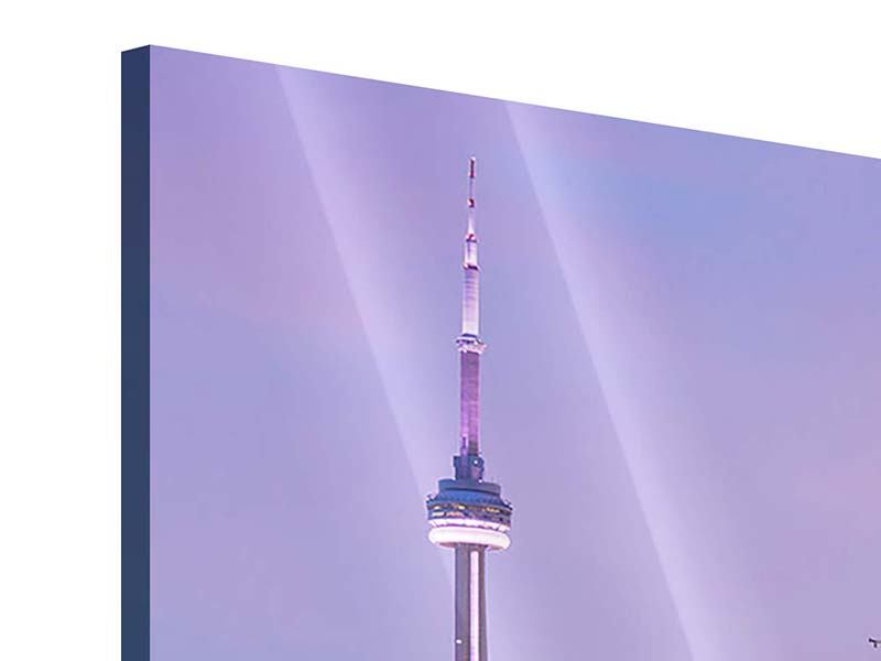 Acrylglasbild 3-teilig Skyline Toronto bei Nacht