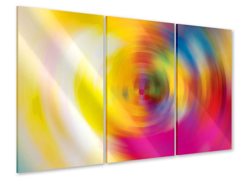 Acrylglasbild 3-teilig Abstrakte Farbkreise
