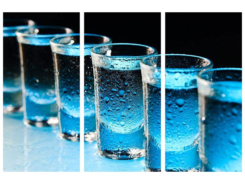 Acrylglasbild 3-teilig Wodka Pur