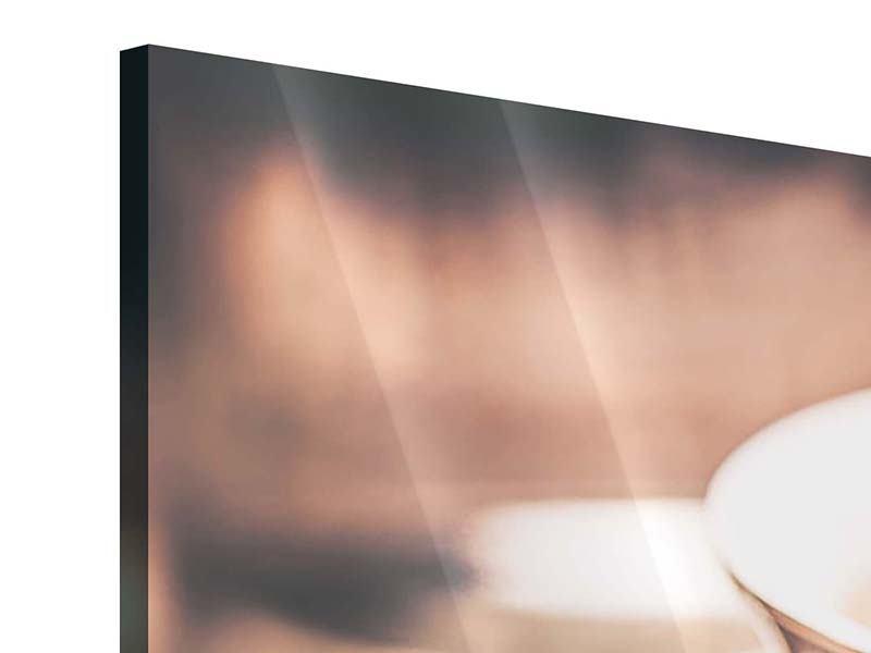 Panorama Acrylglasbild 3-teilig Der Kaffee ist fertig