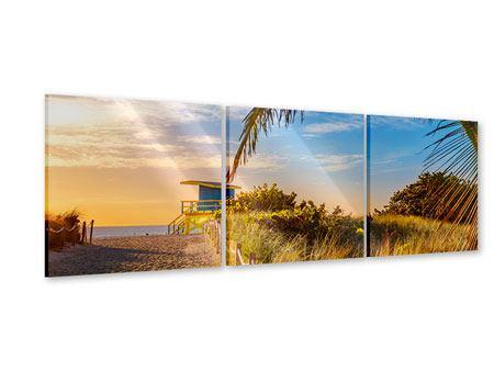 Panorama Acrylglasbild 3-teilig Sandkörner