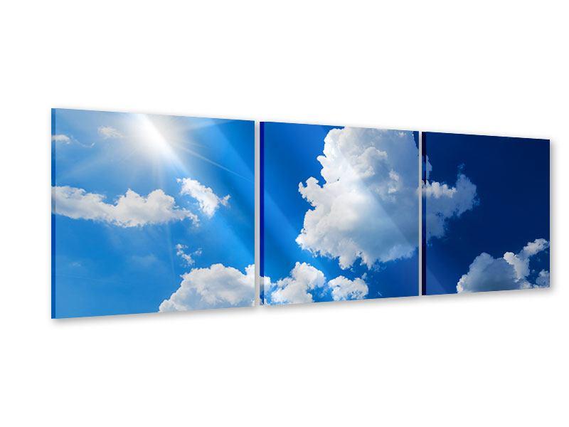 Panorama Acrylglasbild 3-teilig Himmelblau