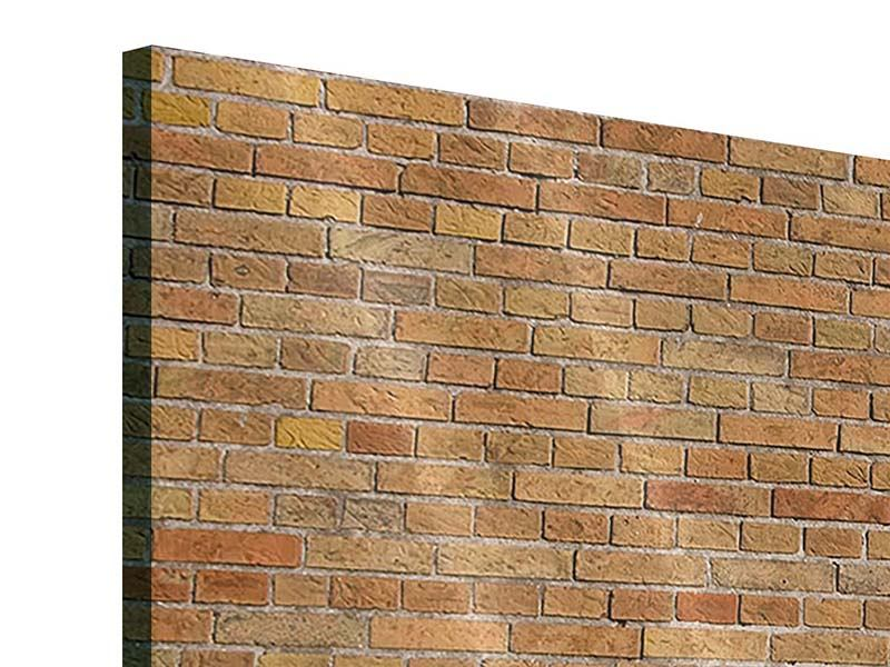 Panorama Acrylglasbild 3-teilig Backsteinhintergrund